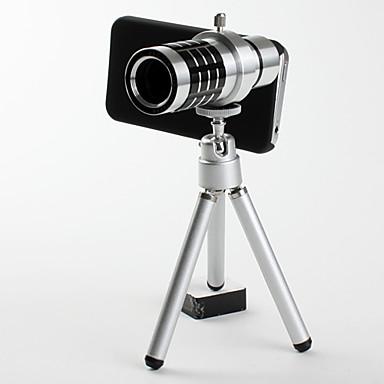 Set med Löstagbara Telobjektiv med 12X Zoom för iPhone 4/4S