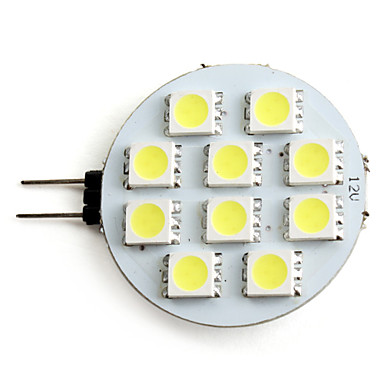 2W 160lm G4 LED Spotlight 10 LED Beads SMD 5050 Natural White 12V