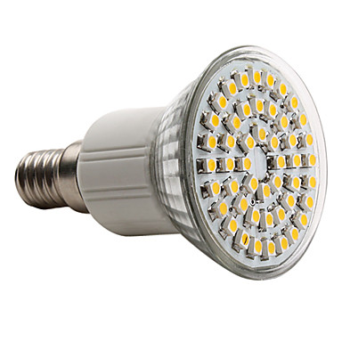e14 led spotlight mr16 48 smd 3528 150lm blanco cálido 2800k ca 220-240v