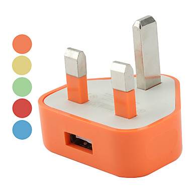 triangle uk chargeur usb ac (couleurs assorties)