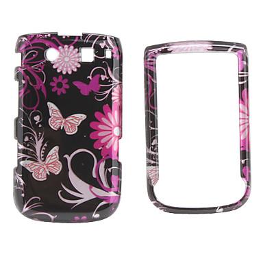 Butterfly Pattern Back Case and Bumper Frame for Blackberry 9800 (Black)