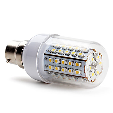 B22 W 66 SMD 3528 430 LM Warm White T Corn Bulbs AC 220-240 V
