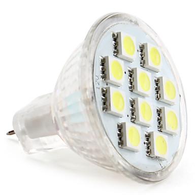 1W 50-80lm GU4(MR11) LED Spot Işıkları MR11 10 LED Boncuklar SMD 5050 Doğal Beyaz 12V