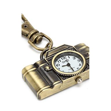 Damen Uhr mit Schlüsselanhänger Quartz Schlussverkauf PU Band Retro Braun