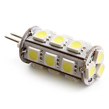 1.5W G4 LED-kolbepærer T 18 SMD 5050 110 lm Naturlig hvid Jævnstrøm 12 V