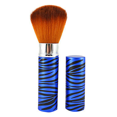 Retractable Cosmetic Face Makeup Brush In Blue Tube