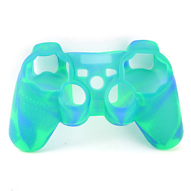 Protective Dual-Color Style Silicone Case for PS3 Controller (Yellow and Green)