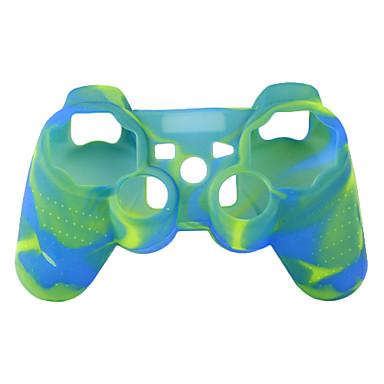protetora de dupla capa de silicone cor estilo para ps3 controlador (amarelo e azul)