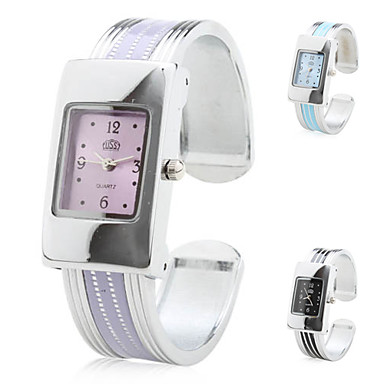 Women's Quartz Analog Stripe Alloy Band Bracelet Watch (Assorted Colors) Cool Watches Unique Watches Strap Watch