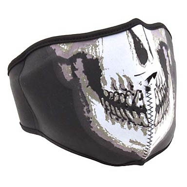 Funky Half-Face Mask with Human Skeleton Printing