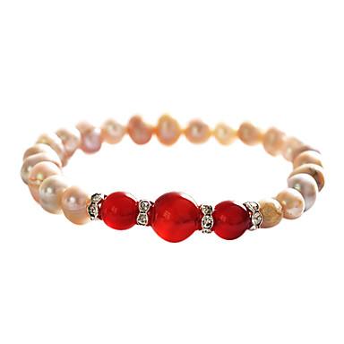 Lureme®Women's Colorful Precious Stone Pearl Bracelet