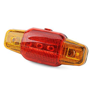 5-7-mode led rosso e giallo safty spia lampeggiante della lampada di coda in bicicletta