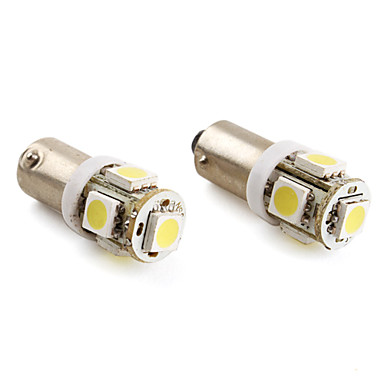 BA9S 1.5W 5x5050 SMD 100LM White Light LED Bulb for Car  Lamp (2-Pack, DC 12V)