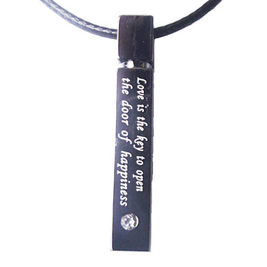 Love Style Rectangle Necklace