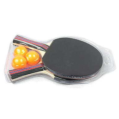 conga double face raquette Penhold tennis de table, ping-pong paddle (2-pack, 3 balles inclus)