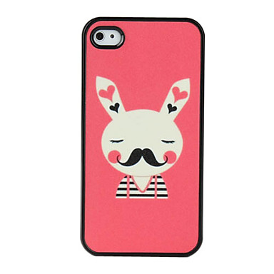 Rubbit Pattern Dull Polish Hard Case for iPhone 4 and 4S (Multi-Color)