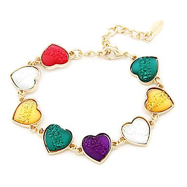corazón colorido brazalete estilo