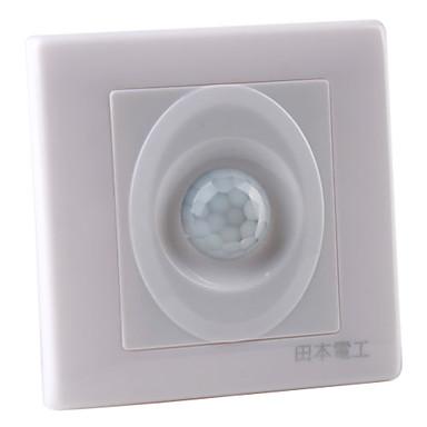 tres conductores movimiento de la pared de montaje del sensor de infrarrojos activado llevó interruptor de la luz (180-240v)