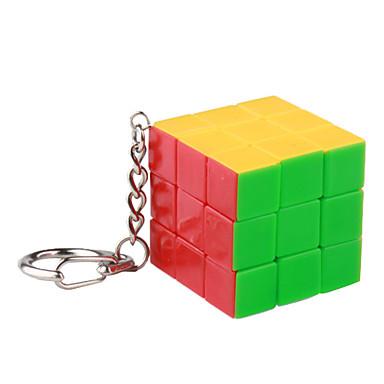 Mini Type C 3x3x3 Magic Puzzle Cube Keychain (Mixup)