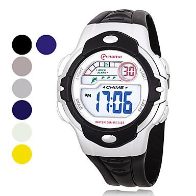 hommes multi-fonctionnelle pu numérique montre-bracelet automatique (couleur assortie)