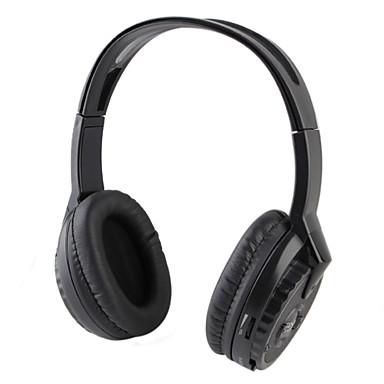 wireless w / radio FM cuffia con microfono incorporato (nero)