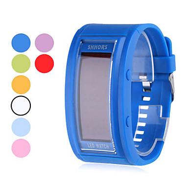 Männer Gummi digitale LED Armbanduhr (verschiedene Farben)