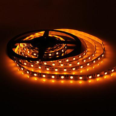 5м 7w 150x5050 SMD желтого света лампы светодиодные ленты (DC 12V)