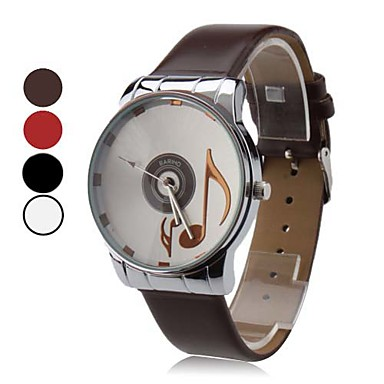 Women's Quartz Analog Musical Note Pattern Dial PU Band Wrist Watch (Assorted Colors) Cool Watches Unique Watches