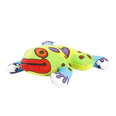 Gatos Brinquedos para Animais Gatária Sapo Verde Téxtil