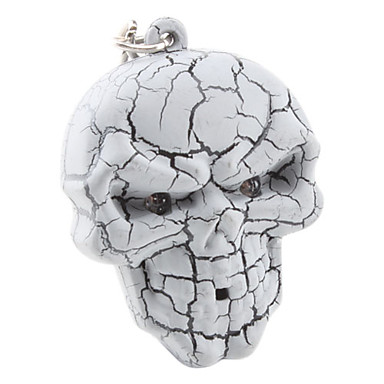 Halloween Skull Keychain with Light and Sound Effect (Random Color)