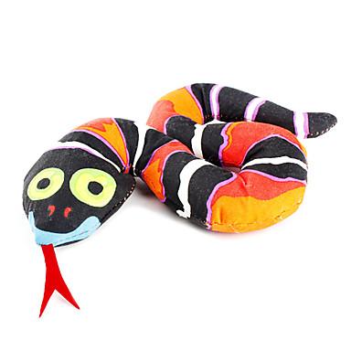 Gatos Brinquedos para Animais Gatária Cobra Preto Téxtil