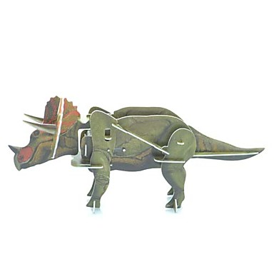 Triceratops móvil rompecabezas 3D Plastic Toy Wild Animal