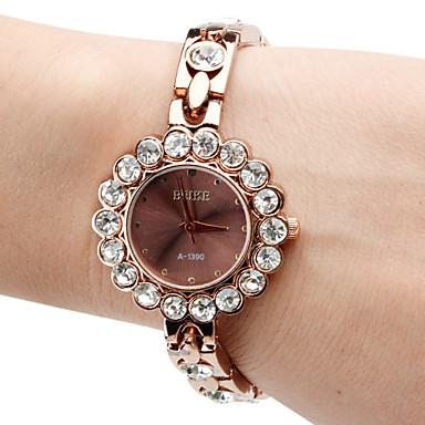 liga das mulheres relógio pulseira de quartzo analógico (marrom)