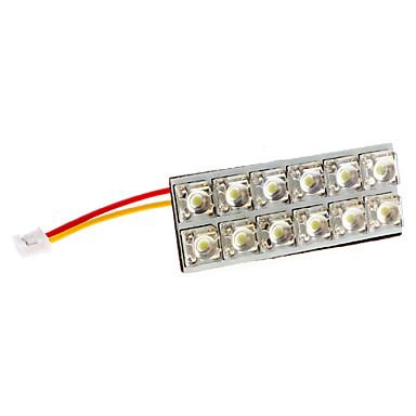 BA9S/Festoon/T10 4W 12-LED 320-350LM White Light LED Bulb for Car Door/Reading Lamp (12V)