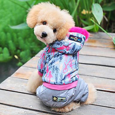 La vida fashionalbe Escudo Estilo con capucha Pantalones para Perros (color surtidos, XS-XL)