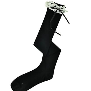 Çoraplar Klasik/Geleneksel Lolita Lolita Prenses Lolita Lolita Kadın Lolita Aksesuarları Dantel Uzun Çorap Pamuk