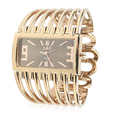 Women's Metal Band Analog Quartz Bracelet Watch With Rolling Beads Ornamentation(Golden) Cool Watches Unique Watches
