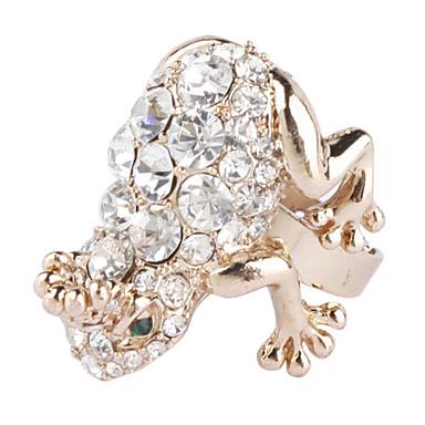 Bling Bling Rhinestone estilo anillo tachonado de rana