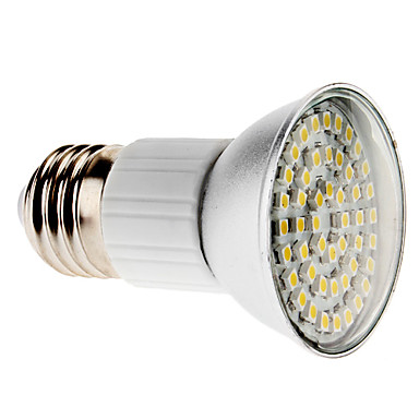 E27 3W 48x3828 SMD 280-300LM 3000-3500K Warm White Light Ceramic LED Spot Bulb (220V)