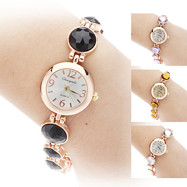 Women's Alloy Analog Quartz Bracelet Watch (Gold) Cool Watches Unique Watches Strap Watch