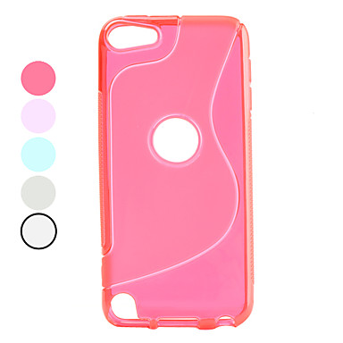 S Shape Design Soft TPU Case for iTouch 5 (Assorted Colors)