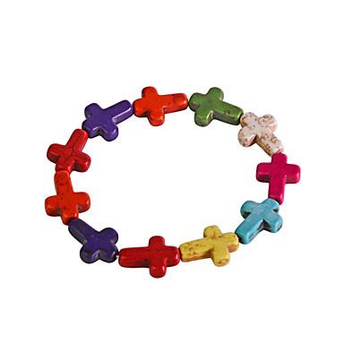 Lureme®12X16cm Colorful Cross Bracelet