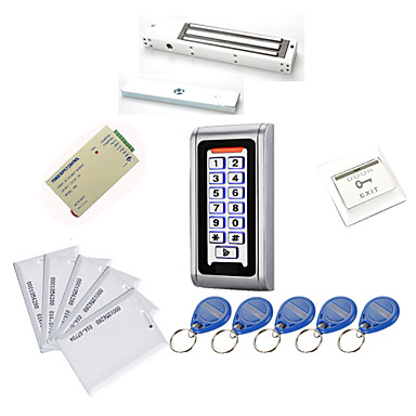 ieftine Sisteme de Control Acces-din metal rezistent la apa kituri Access Controller (blocare magnetic 280 kg, 10 carduri EM-identitate, sursa de alimentare)