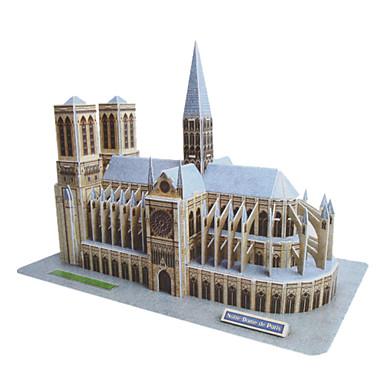 DIY Paper 3D Puzzle Notre Dame de Paris (74pcs, No.2804-E)
