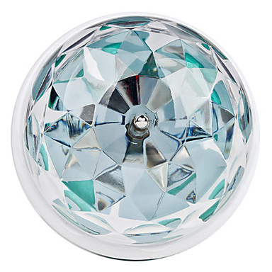270lm E26 / E27 LED Kugelbirnen 3 LED-Perlen Hochleistungs - LED Geräusch aktiviert RGB 85-265V / # / #