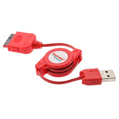 chowany kabel USB do ładowania iPhone 4, 4s i inne (różne kolory)