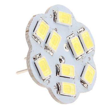 g4 4.5W 9x5630 SMD 400-430lm 6000-6500K luonnollista valkoista valoa lotus muotoinen vertical pin LED Spot lamppu (12V)