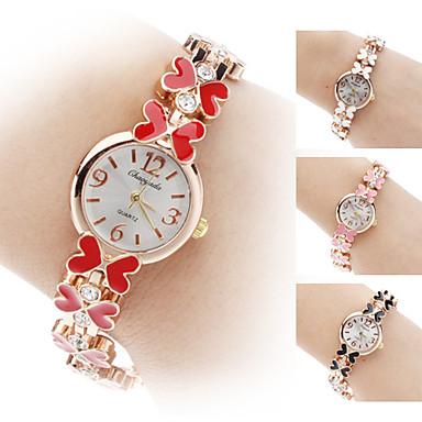 Bayanların Bilezik Saat Quartz Bant Kelebek Çiçekli Siyah Beyaz Kırmızı Kahverengi Pembe