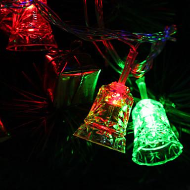 7m 30 liderliğindeki çınlaması-çan biçimli renkli ışık festivali dekorasyon (220v) için şerit peri lamba led
