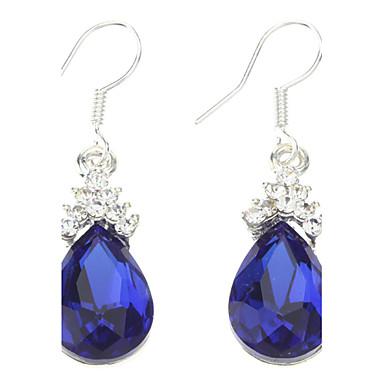 Azul pendientes de la forma de gotas de agua